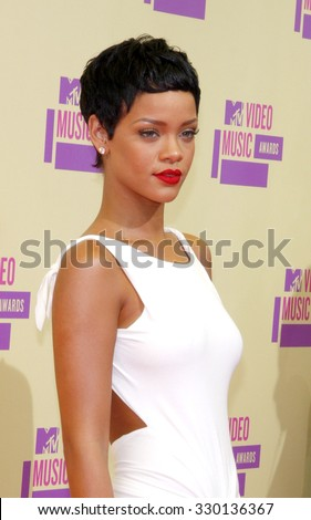 Rihanna at the 2012 MTV Video Music Awards held at the Staples Center in Los Angeles, USA on September 6, 2012.  - stock photo