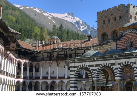 RILA MONASTERY, BULGARIA - stock photo