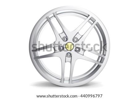 Rim car disc isolated on white background 3d illustration - stock photo