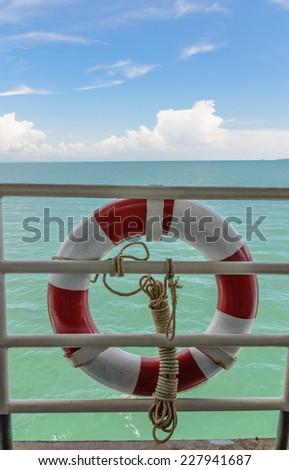 Ring buoy ,life buoy - stock photo