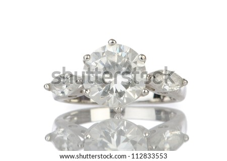 Ring isolated on white background - stock photo