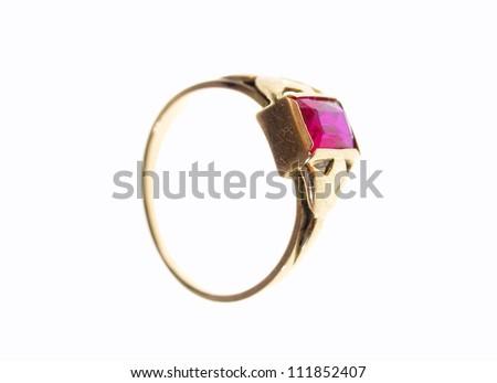 Ring, jewellery studio isloated photo - stock photo