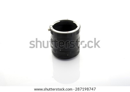 Ring Macro Extension Tube on white background isolated - stock photo