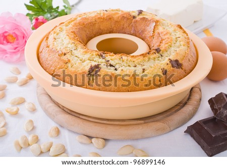 Ring-shaped cake. - stock photo