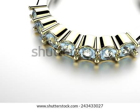 Ring with Diamond. Jewelry background. Valentine day - stock photo