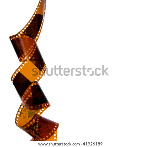 Rings film.  Isolated on white background. - stock photo