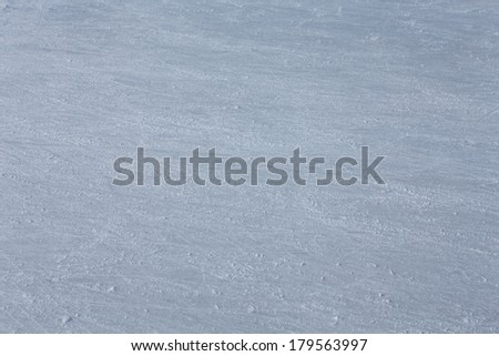 rink surface abstract background with trace of skates - stock photo