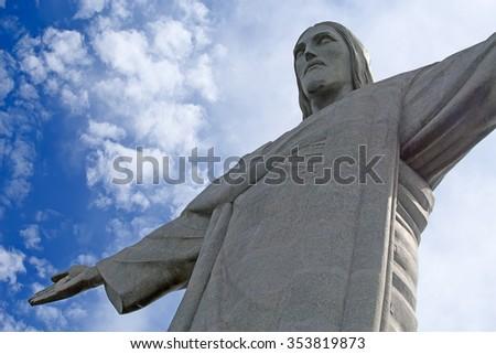 RIO DE JANEIRO, BRAZIL - NOVEMBER 19, 2015: Famous Christ the Redeemer in the Rio de Janeiro, Brazil - stock photo