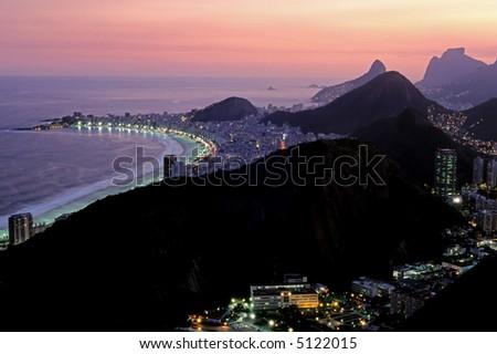 Rio De Janeiro By Night - stock photo