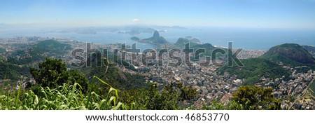 Rio de Janeiro from the top of corcovado, Brasil - stock photo