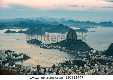 Rio de Janeiro, Sugarloaf Mountain - stock photo