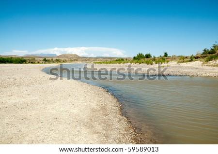 Rio Grande river - stock photo