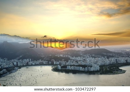 Rio`s night - stock photo