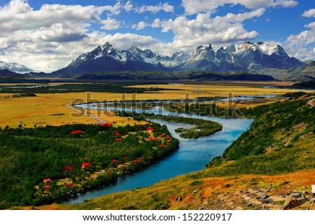 Rio Serrano, Patagonia - stock photo