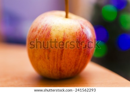 Ripe apples prepare for being eaten for lunch - stock photo