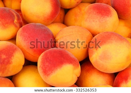 Ripe apricot close up, DOF, as background - stock photo