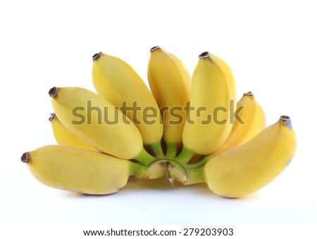 Ripe Banana isolate on white background - stock photo