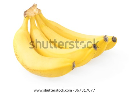 Ripe banana isolated on white background - stock photo