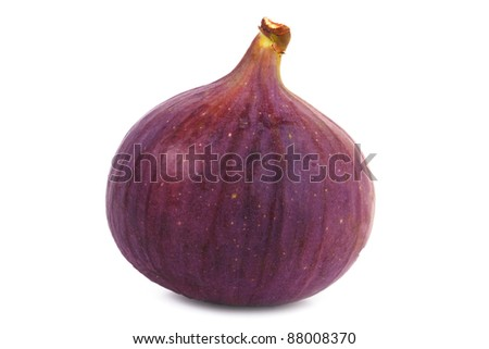 Ripe figs on white background - stock photo
