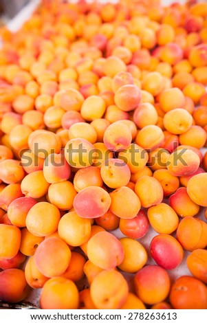 Ripe, fresh and delicious apricots - stock photo