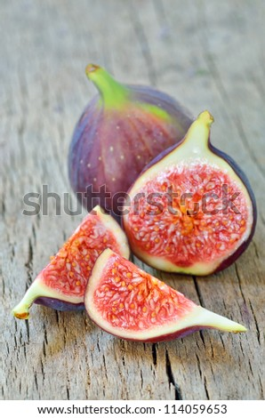 Ripe fresh fig - stock photo