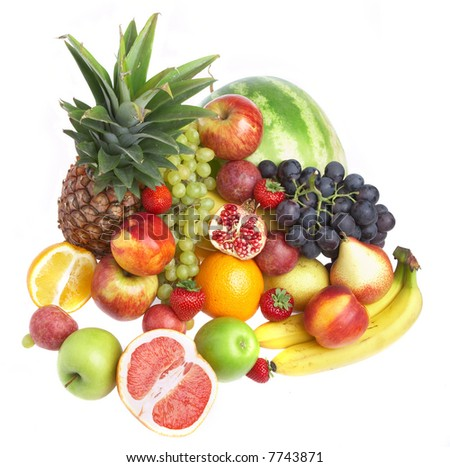 Ripe fresh fruit. Wholesome food. - stock photo