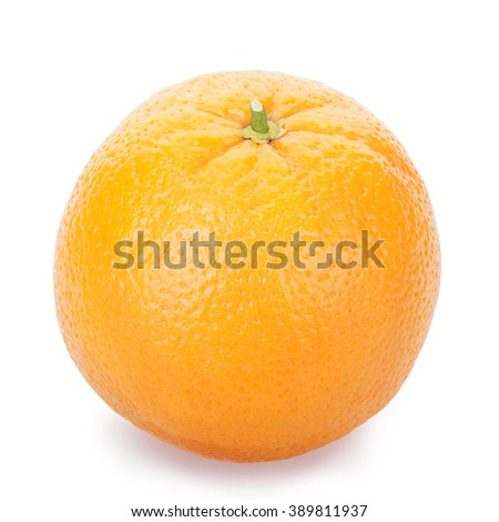 Ripe fresh orange on a white isolated. Clipping Path - stock photo