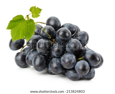 Ripe grapes isolated on the white background - stock photo