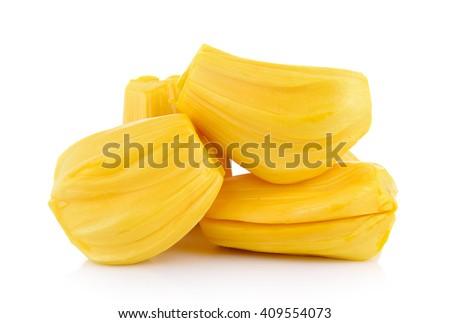 Ripe Jackfruit isolated on white background - stock photo