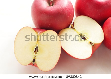 Ripe Japanese San-Fuji apples - stock photo
