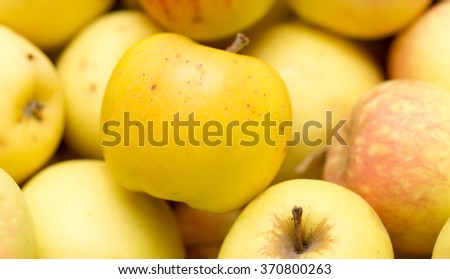 ripe juicy apples as background - stock photo