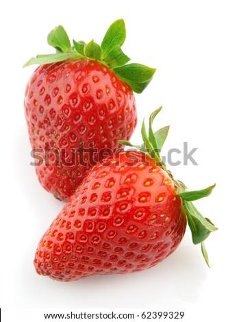 Ripe juicy strawberry - stock photo