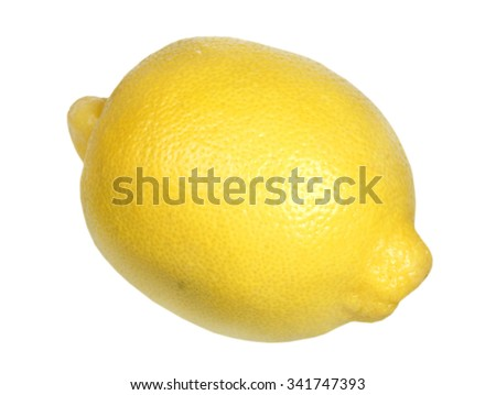 Ripe lemon it is isolated on a white background - stock photo