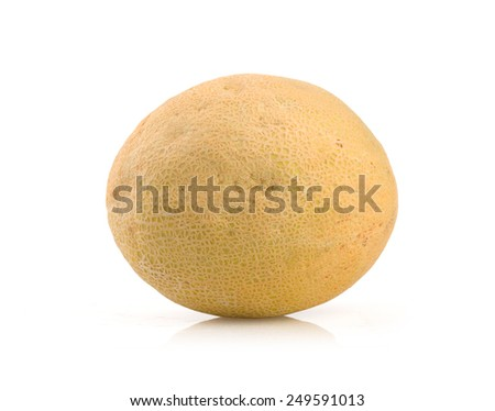 Ripe melon isolated on white background - stock photo