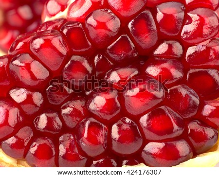 Ripe pomegranate fruit isolated - stock photo