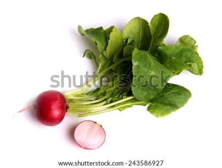 ripe radishes - stock photo