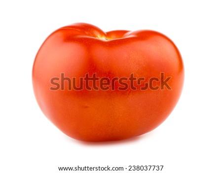 Ripe red tomato - stock photo