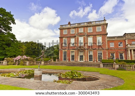 RIPON, NORTH YORKSHIRE IN UK - JULY 12, 2015: Newby Hall is an eighteenth-century country house is a Grade I listed building.   - stock photo
