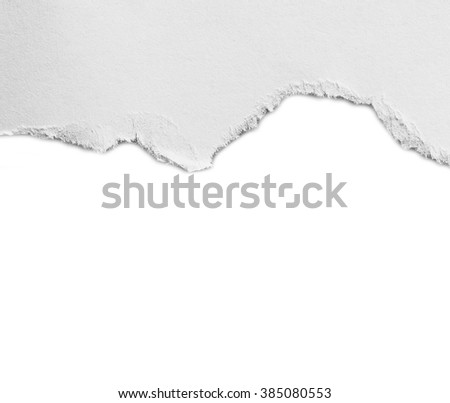 ripped in paper , advertising space - stock photo