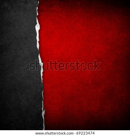 ripped paper - stock photo