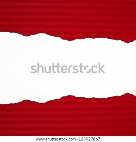 Ripped paper background - stock photo