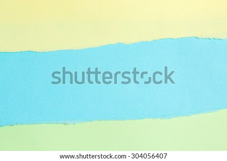 Ripped paper, tear color paper with space for text - stock photo