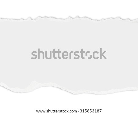 Ripped paper with free space for text - stock photo