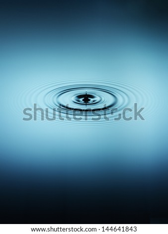 Ripple in water - stock photo