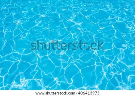 Ripple water in swimming pool - stock photo