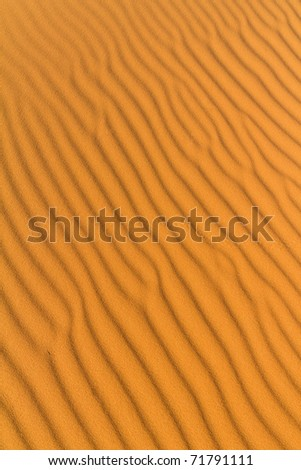 rippled sahara desert - stock photo