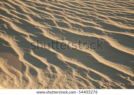 Ripples in the sand at dawn in Death Valley National Park - stock photo