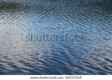 Ripples on a Lake - stock photo