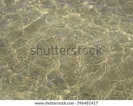 Rippling Ocean Water over Sand, shallow rippling water, background, texture - stock photo