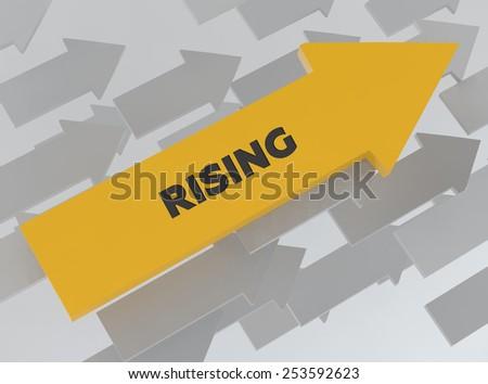 RISING - stock photo